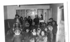 Cree children watching a movie