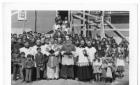 Catholic Priests and Cree children in Moosonee