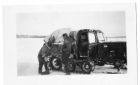 1940s version of the snowmobile on the Moose River