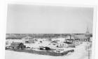 Winter view of downtown Moosonee